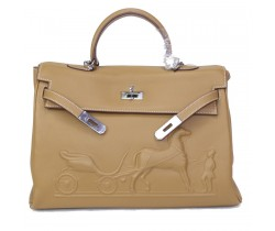 Сумка Hermes Kelly кэмел
