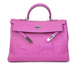 Сумка Hermes Kelly фуксия