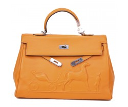 Сумка Hermes Kelly оранжевая